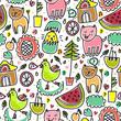 Cute colorful seamless childish pattern