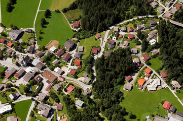 Bayerisches Dorf Luftaufnahme