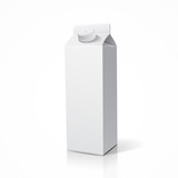Milk box packaging design, vector illustration