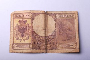 old albanian money