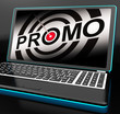 Promo On Laptop Shows Special Promotions