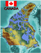 Canada North America  national emblem map symbol motto