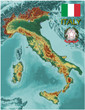 Italy Europe national emblem map symbol motto