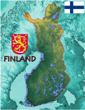 Finland Europe national emblem map symbol motto