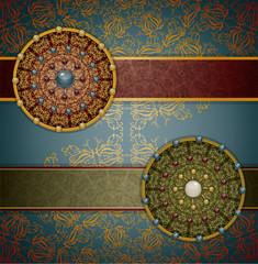 Retro background with ornament, Illustration 10 version