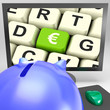 Euro Key On Monitor Shows European Exchange