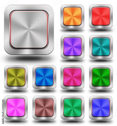 Aluminum glossy icon, button #01