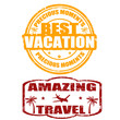 Best Vacation, Amazing Travel stamps