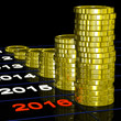 Coins On 2016 Shows Finance Forecasting