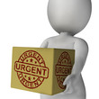 Urgent Stamp On Box Shows Speedy Rush Deliveries
