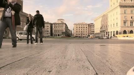 Touristen in Rom - Italien - Time-Lapse