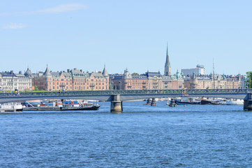 bridge in downtown Stockholm