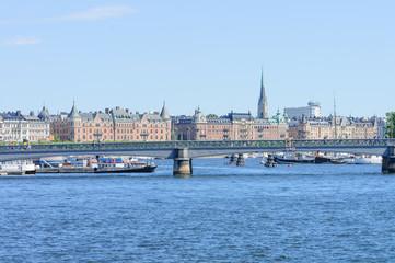 bridge in downtown Stockholm