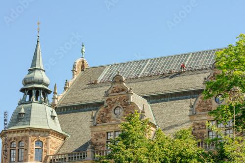 Ornamental tower in Stockholm, Sweden