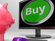 Buy Button Screen Shows Online Retail Trade