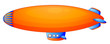 An orange blimp