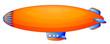 An orange blimp