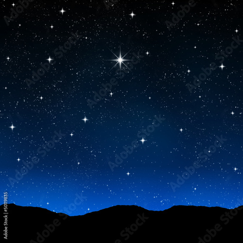 canvas print picture starry sky at night