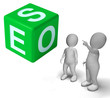 Seo Dice Represents Internet Optimization And Promotion