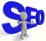 Seo Word Represents Internet Optimization And Promotion