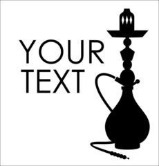 Hookah silhouette with sample text