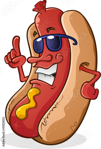 Hot Dog Wearing Sunglasses With Attitude
