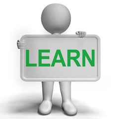 Learn Sign Showing Education Training Or Learning