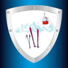 Safety on the mountain winter sports skiing tourist resorts.