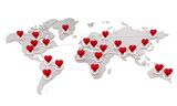Isolated international red heart network
