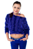 Stylish midriff girl dressed in off shoulder top poster