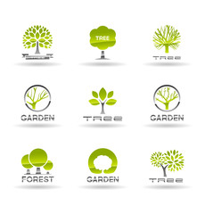 Set of tree icons. Vol 1.