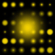 Set of spotted yellow halftone. EPS 8