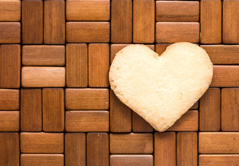 heart cookies on a wooden background