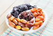Sweet Dried Fruits On A Dish