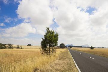 Одинокое шоссе. Грампианс Национальный парк, Австралия