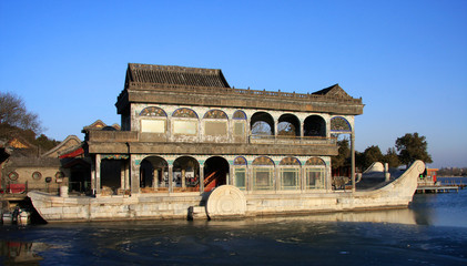 the summer palace stone boat