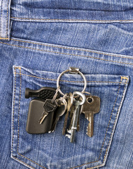 Keys in jeans pocket