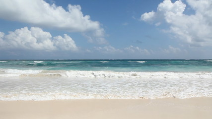 Beautiful beach. Tulum, Mexico.