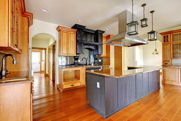 New construction luxury home interior kitchen.