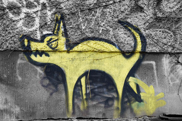 Graffito Dog