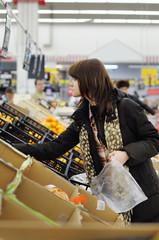 Customer buying fruits