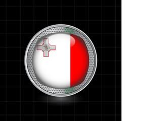 Metallbutton Flagge Malta