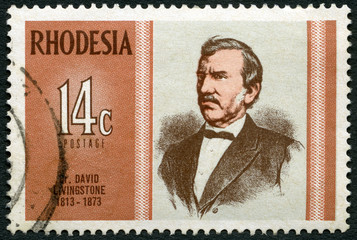 RHODESIA-1973: shows Dr. David Livingstone (1813-1873), explorer