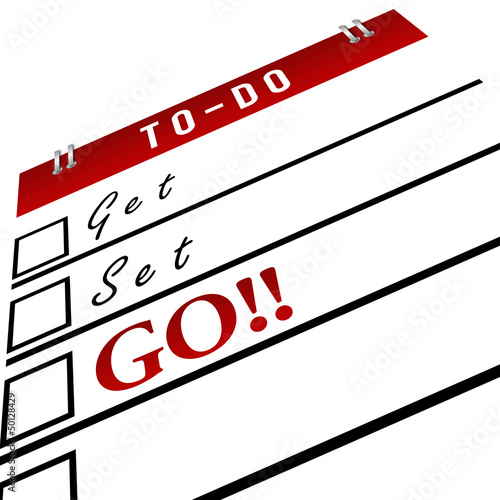 Get Set Go in To-Do List - Red