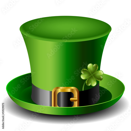 St Patricks day hat with clover