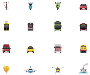 Vector transportation icon set