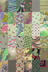 collection of quilt backgrounds - green