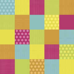 Colored patchwork background