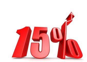 Up 15 percent