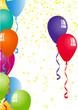 Luftballons und Konfetti